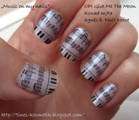 30 Pretty Newspaper Nail Art Designs