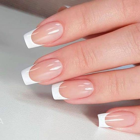 34 Luxury Coffin French Tip Nail Designs