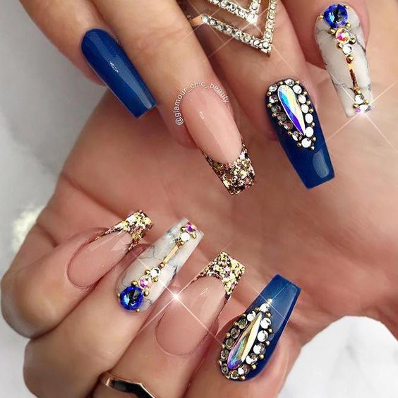 52 Luxury Coffin French Tip Nail Designs