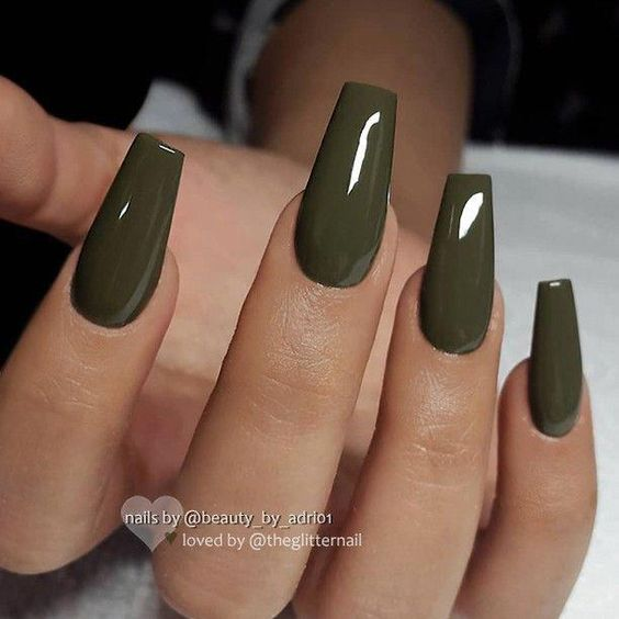 38 Trendy Army Green Nail Designs
