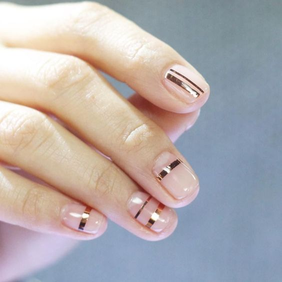 30 Easy and Beautiful Line Nail Art Designs
