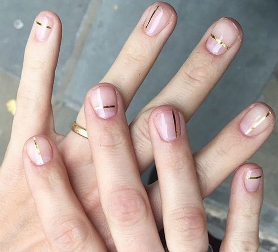 30 Easy and Beautiful Line Nail Art Designs | Style VP | Page 25