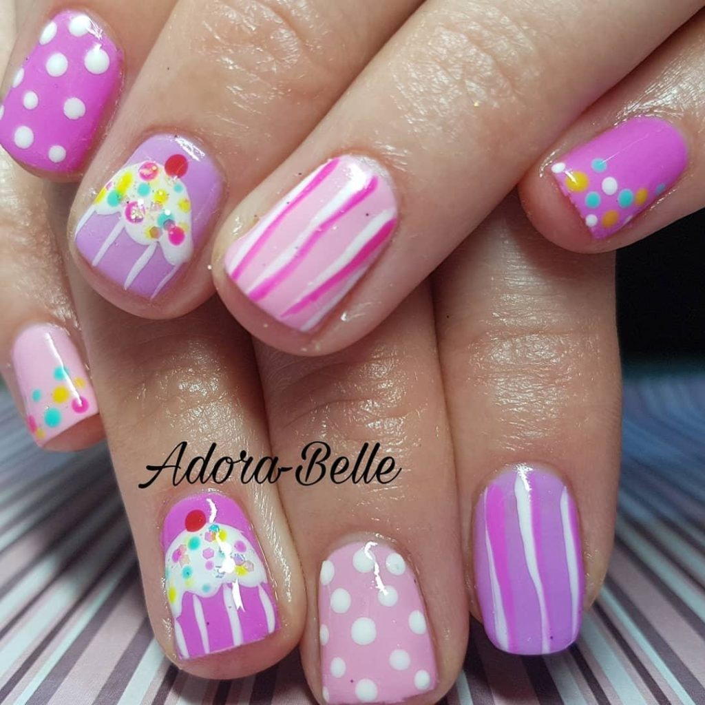 30 Awesome Cake Nail Art Designs