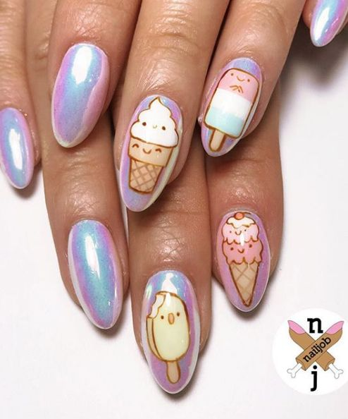 30 Cool Ice Cream Nail Designs For Summer