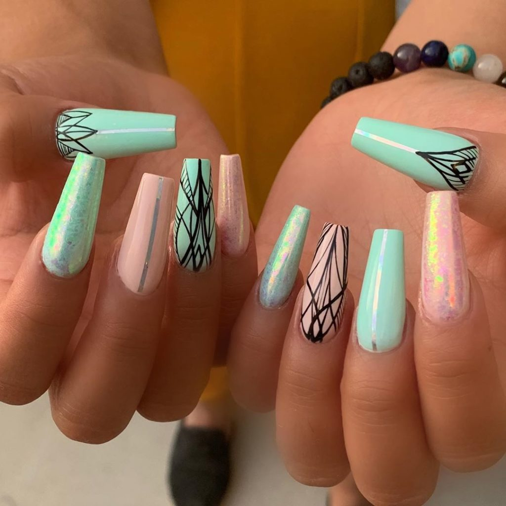 35 Trendy Long Coffin Nail Art Designs