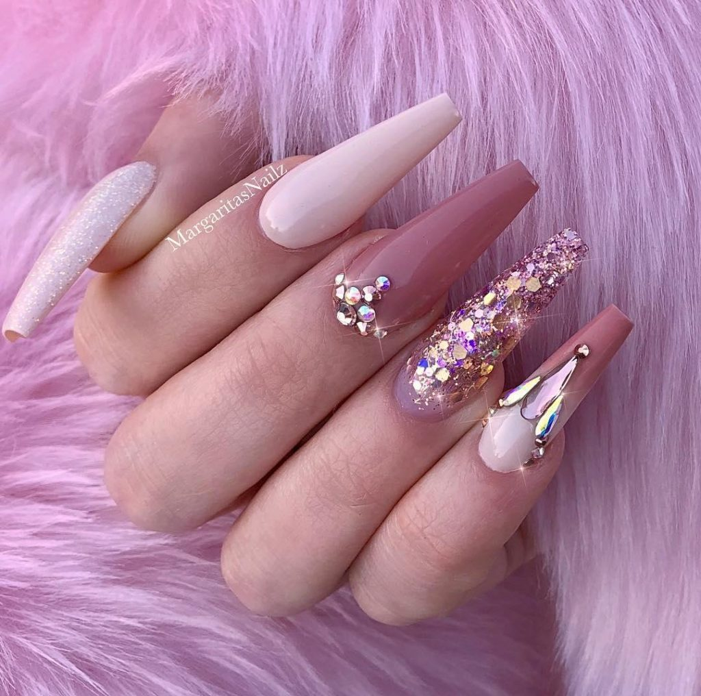 50 Trendy Long Coffin Nail Art Designs