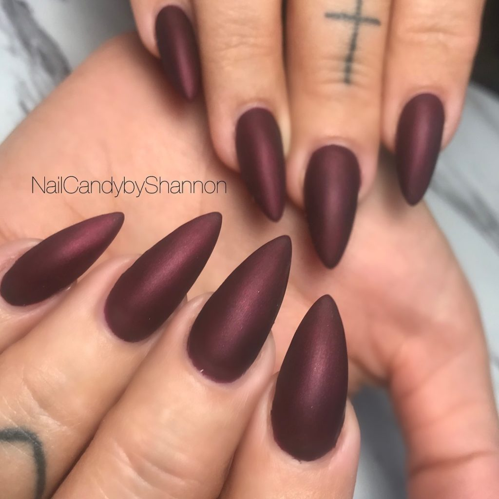 55 Pretty and Awesome Burgundy Nail Art Designs