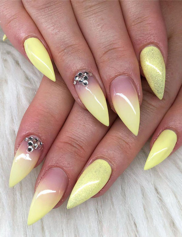 41 Pretty Yellow Nail Art Designs You Can't Miss