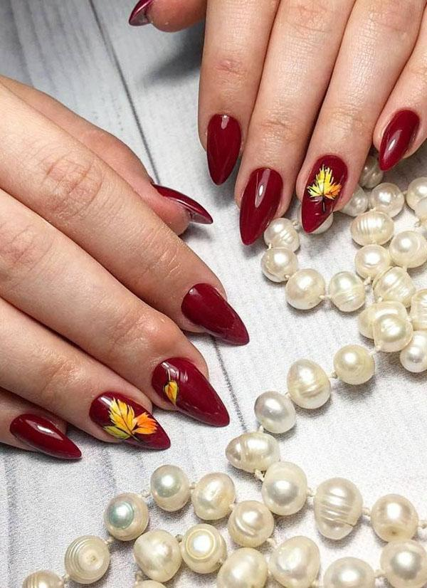 43 Pretty Fall Nail Art Designs For 2019