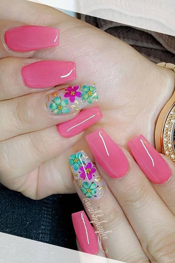51 Dried Flower Nail Art Designs