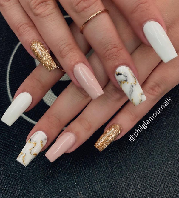 50 Trendy Marble Nail Designs You Must Try