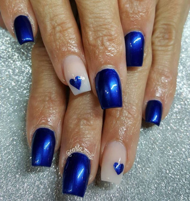 40 Trendy Blue Nail Art Designs to Make You Attractive