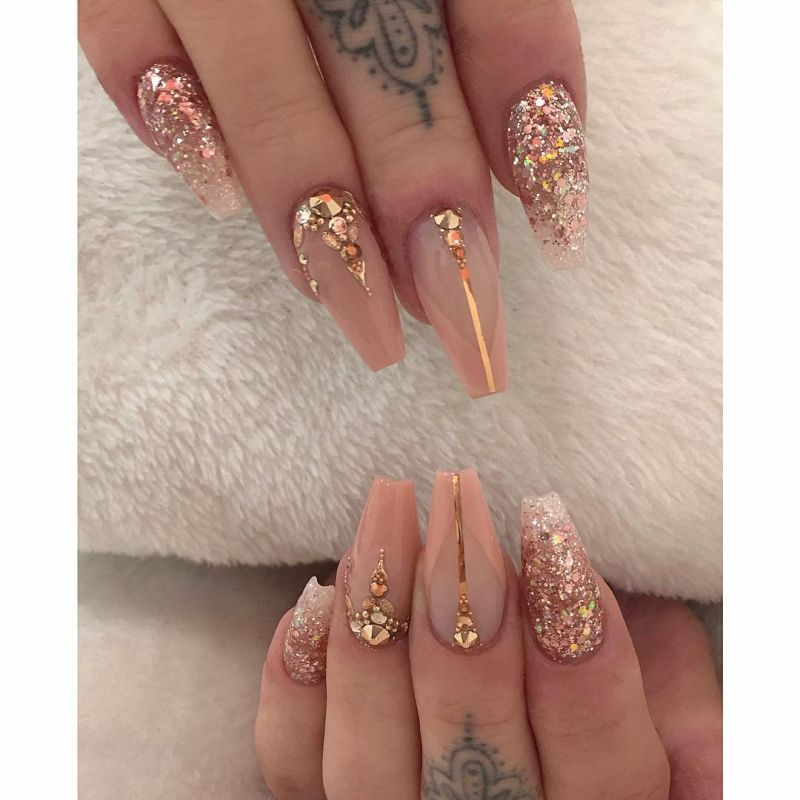 55 Trendy Rose Gold Nails That You Can't Resist
