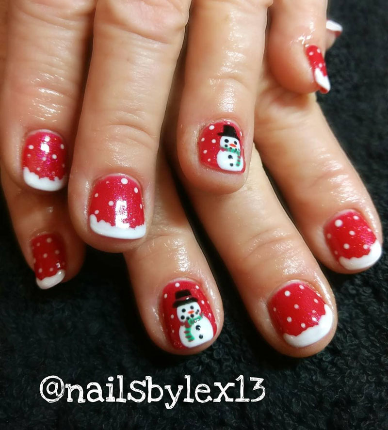 50 Gorgeous Snowman Christmas Nails To Inspire You