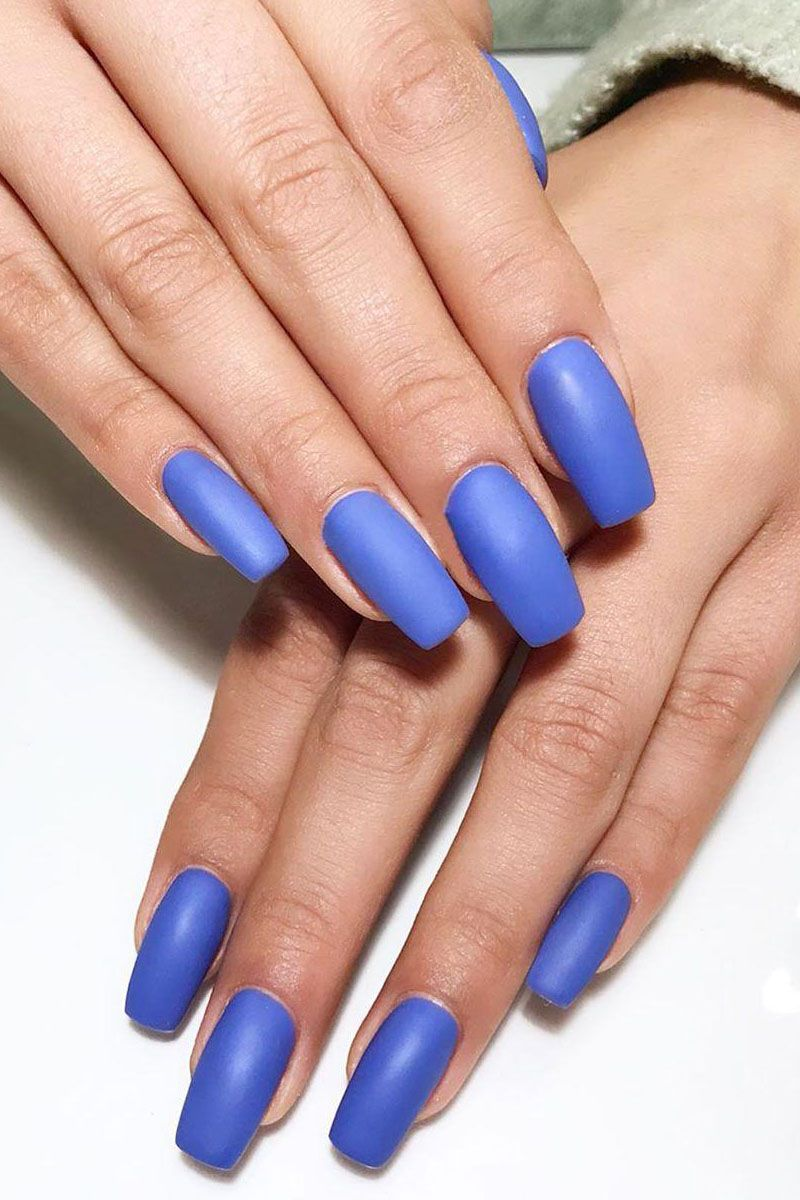55 Gorgeous Matte Nail Art Designs for Spring You Must Try
