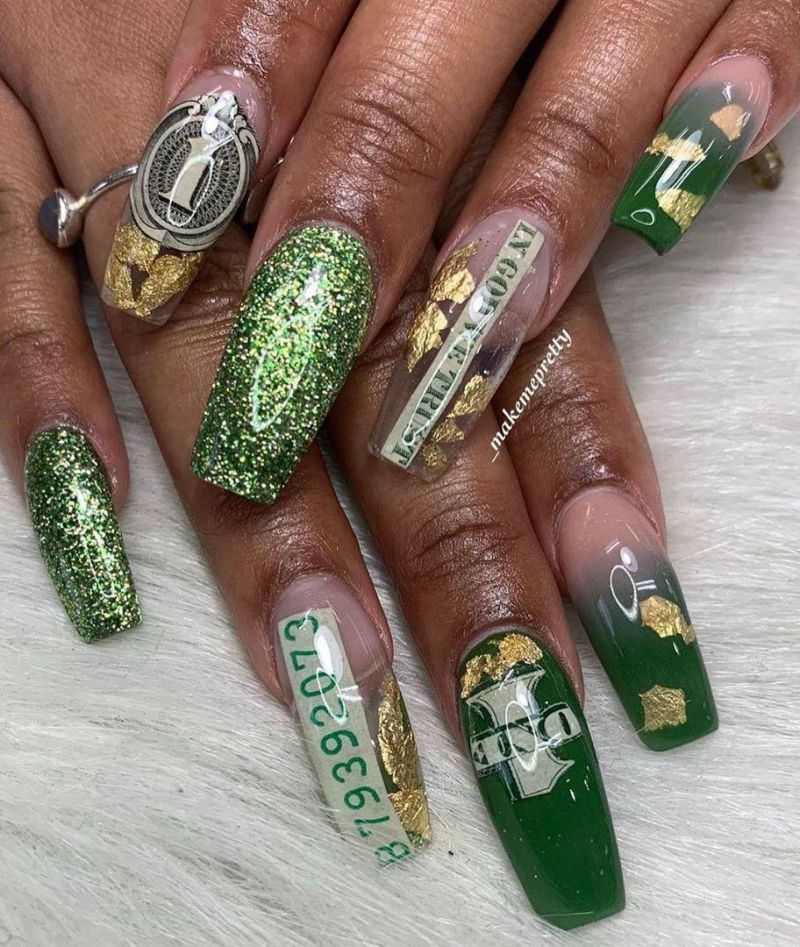55 Gorgeous Money Nail Art Designs Make You Rich