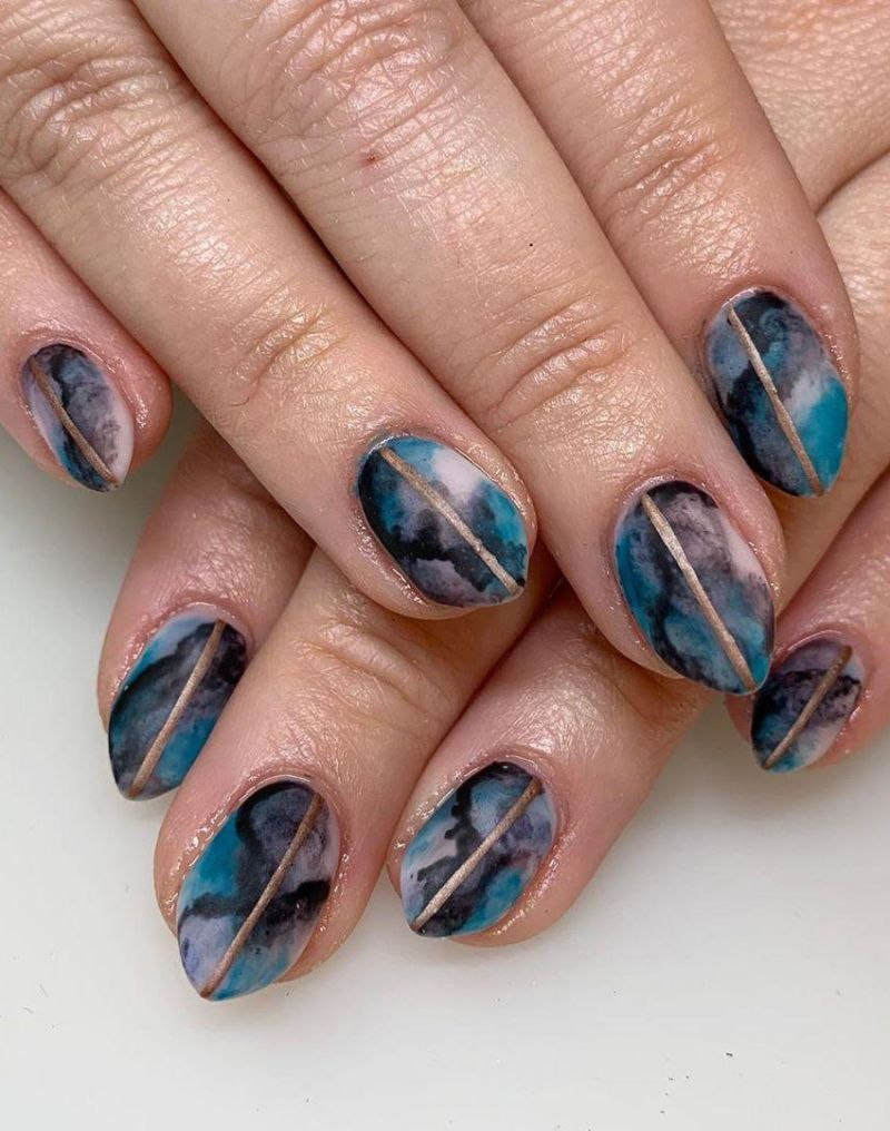 38 Pretty Watercolor Nail Art Designs You Will Love