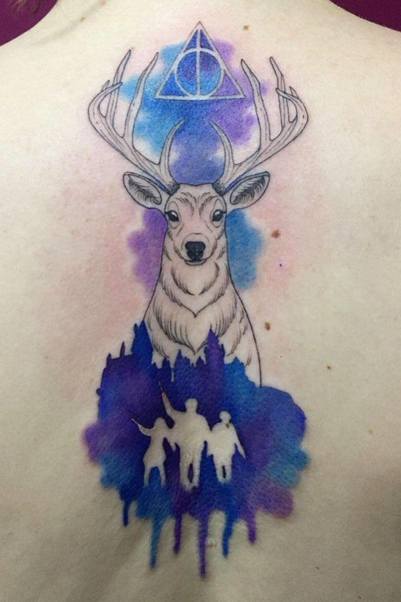 55 Pretty Watercolor Tattoos to Inspire You