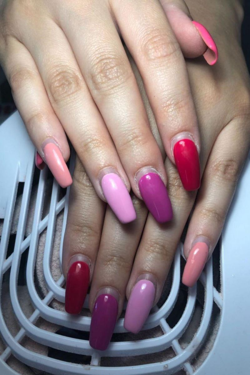 55 Elegant Multicolor Nails for Spring You Will Love