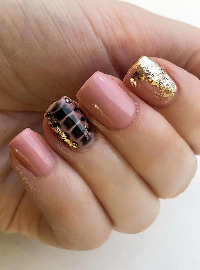 55 Elegant Foil Nail Art Designs for Spring