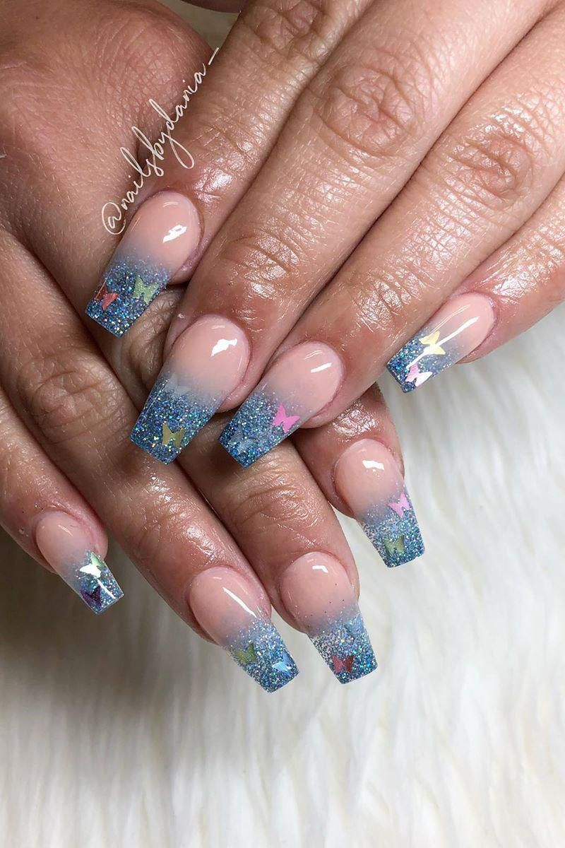 55 Trendy Butterfly Nail Art Designs for Spring