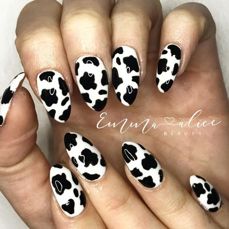50 Stylish Cow Print Nail Art Designs For Inspiration