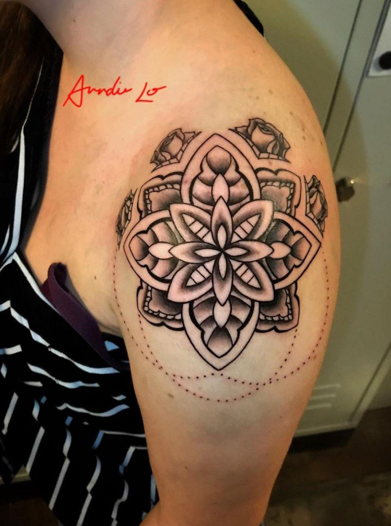 30 Pretty Mandala Tattoos You Will Love