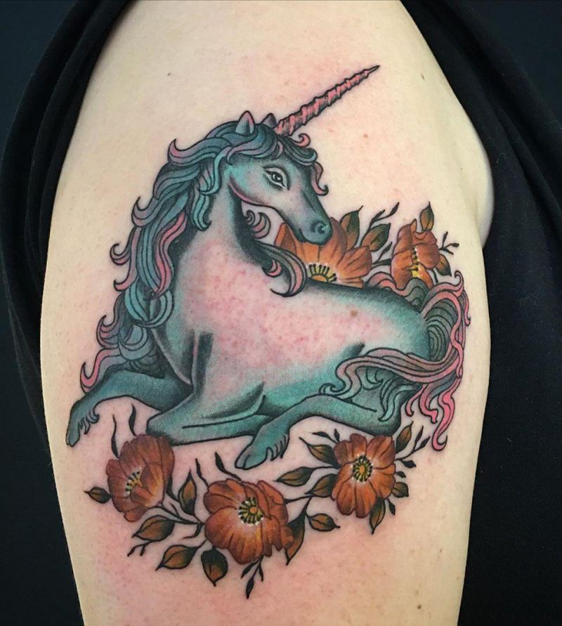 30 Excellent Unicorn Tattoo Designs You Will Love