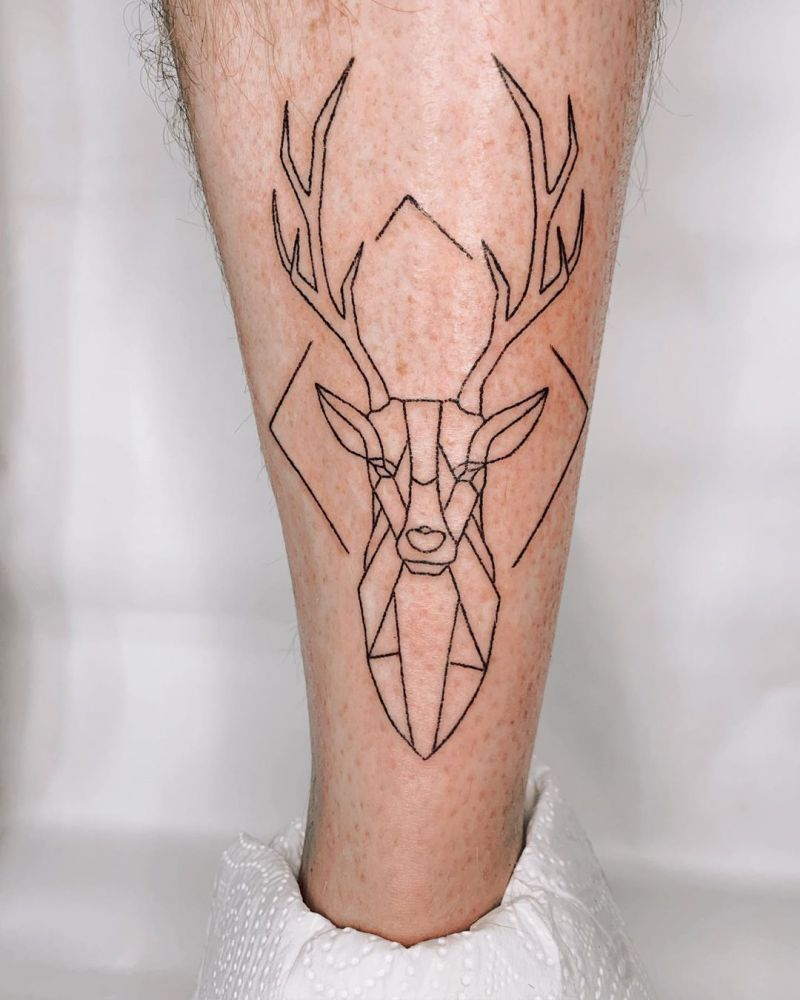 30 Pretty Deer Tattoos Bring You Good Luck