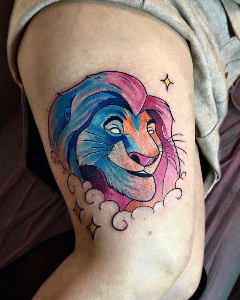 30 Cute Disney Tattoos that Remind You of Your Childhood