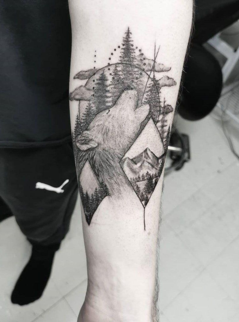 30 Pretty Wolf Tattoos You Will Love to Try