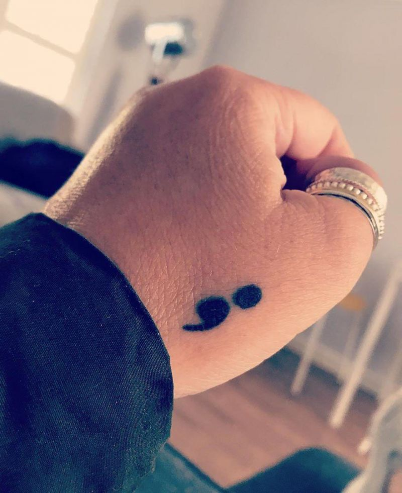 30 Fashionable Semicolon Tattoos Let Your Happiness Continue