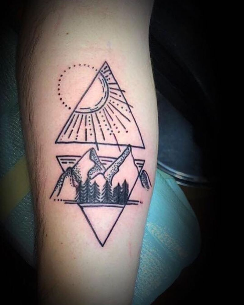 Pretty Hiking Tattoos Inspire You to Go Hiking