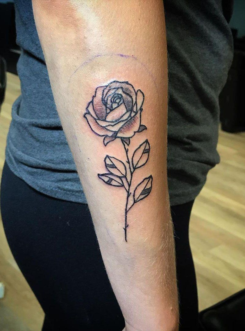 Pretty Rose Tattoos Make Your Life Full of Romance