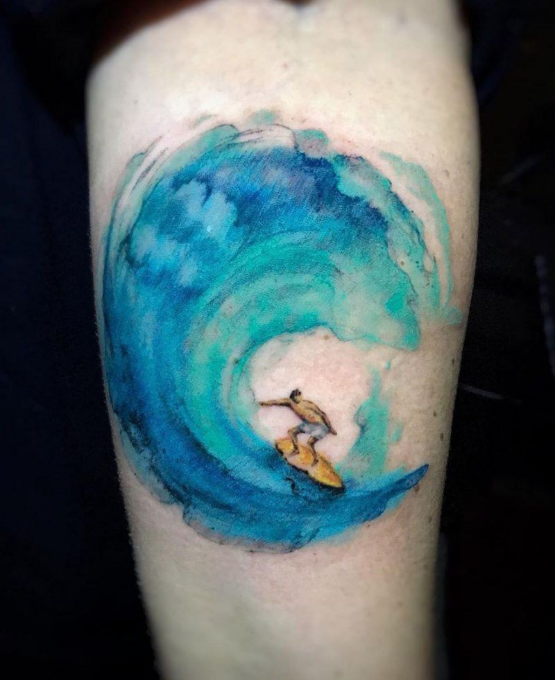 Pretty Wave Tattoos That Give You an Unexpected Feeling