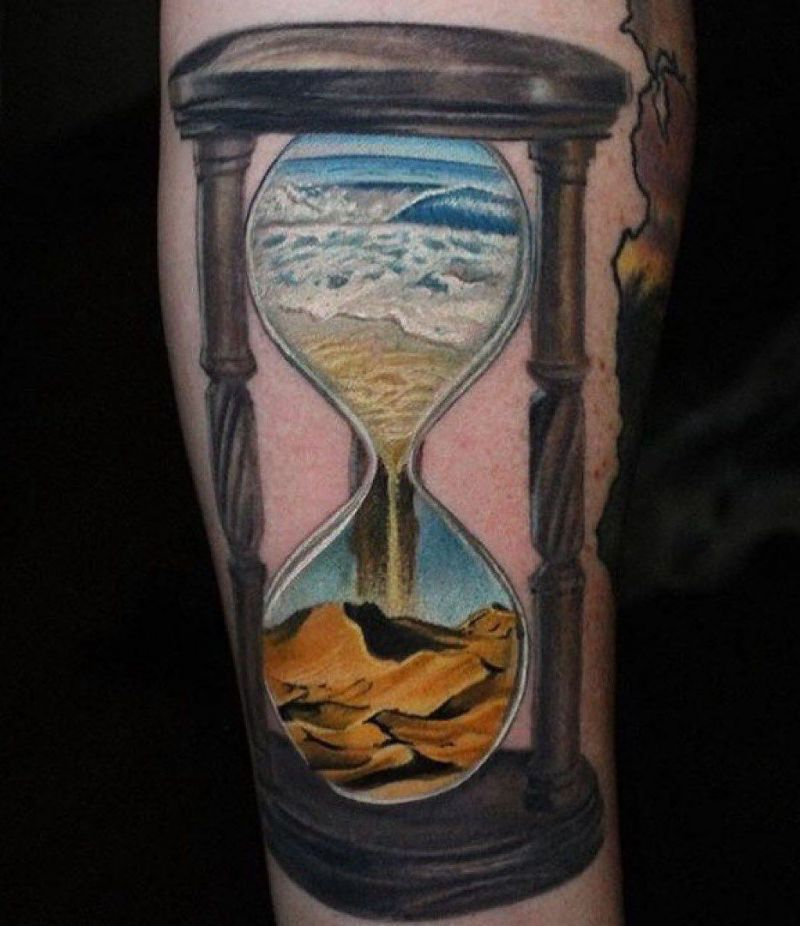 Wonderful Hourglass Tattoos Let You Know How to Cherish Time