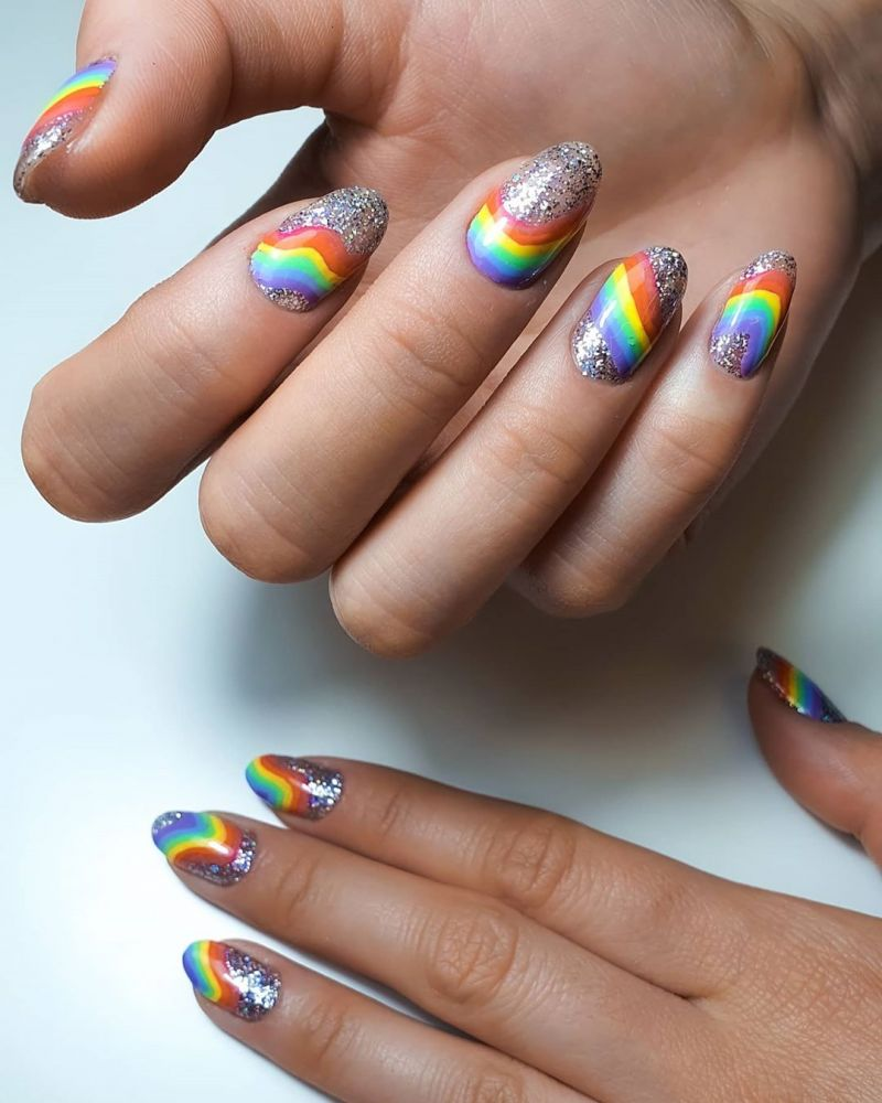 Trendy Rainbow Nail Art Designs for Summer