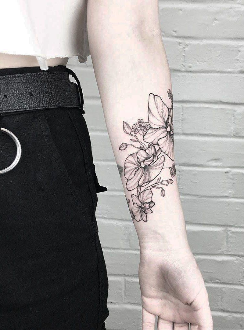 Pretty Orchid Tattoos that Can Enhance Your Temperament