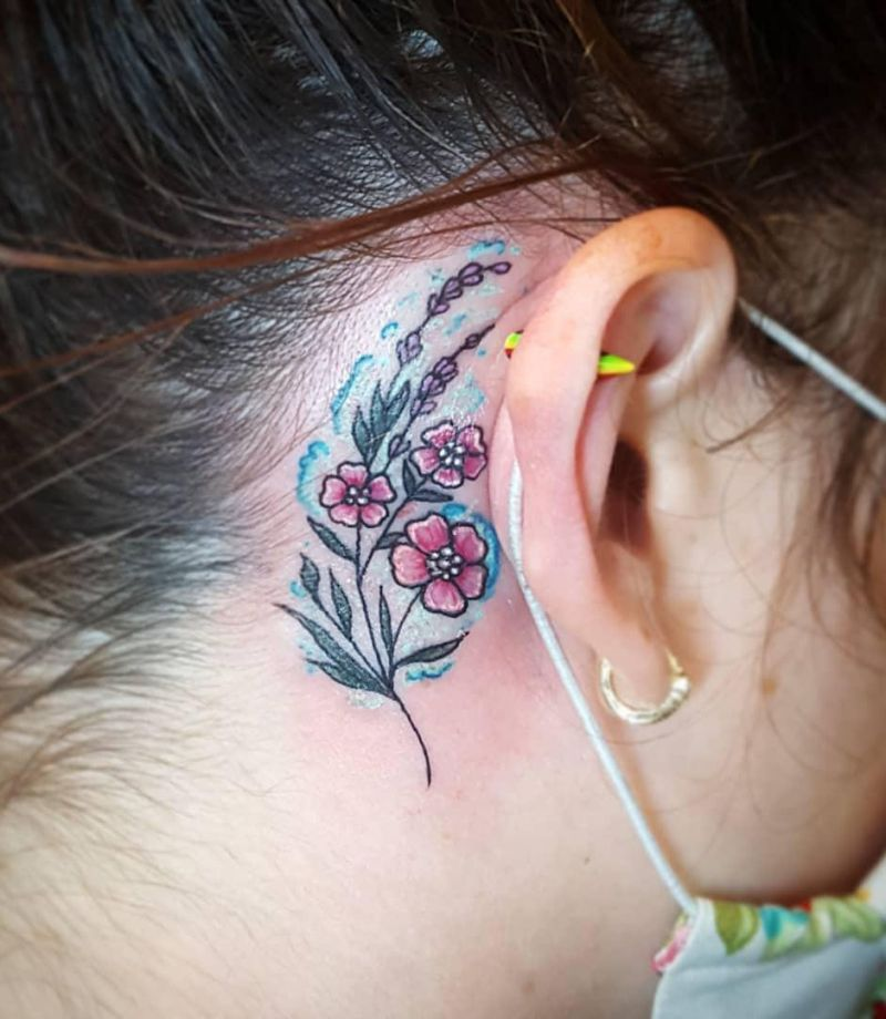 Pretty Behind the Ear Tattoos to Inspire You