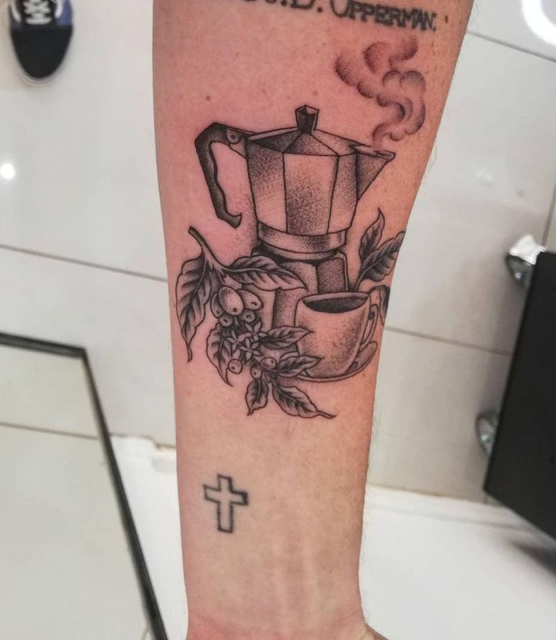 Pretty Coffee Tattoos Keep You Fragrant All The Time