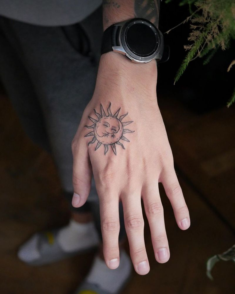 Pretty Sun Tattoos Let You Always Be Full of Sunshine
