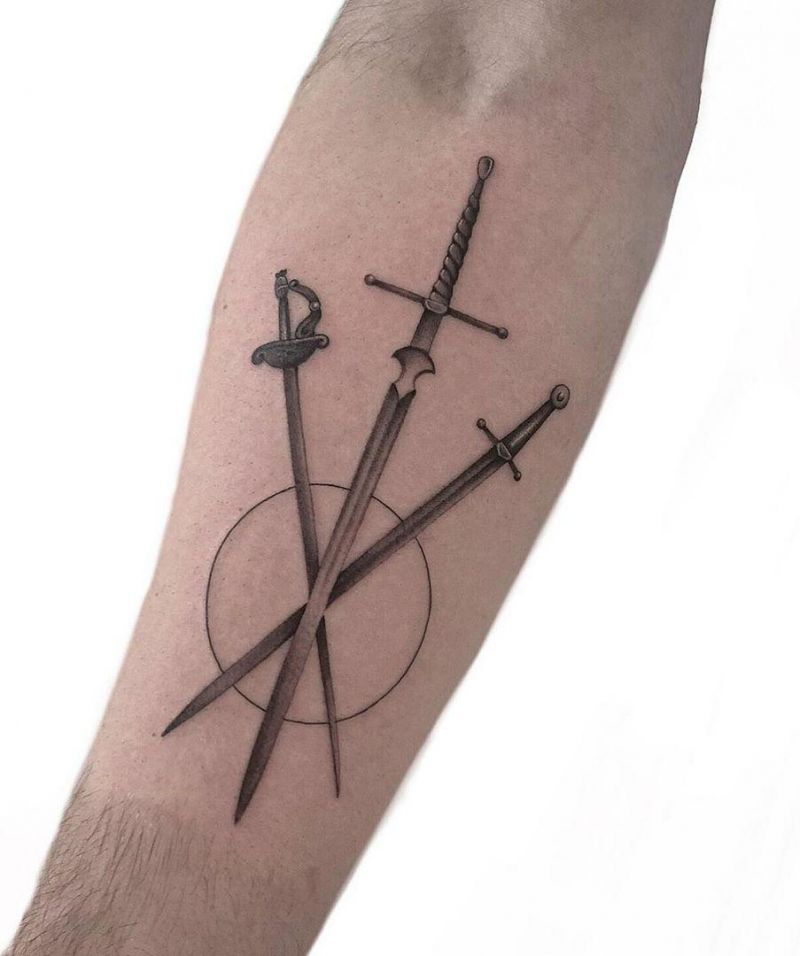 30 Pretty Sword Tattoos to Inspire You