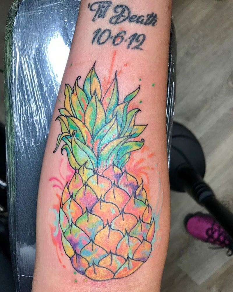 Pretty Pineapple Tattoos Give You Vitamins All The Time