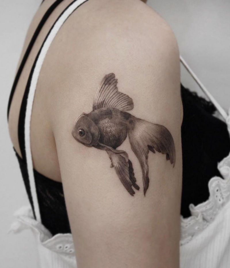 30 Pretty Goldfish Tattoos for Your Inspiration