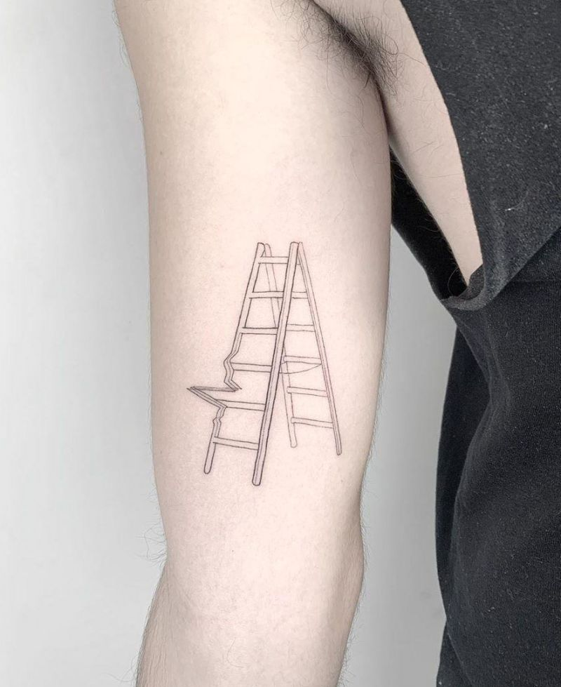 30 Meaningful Ladder Tattoos to Inspire You