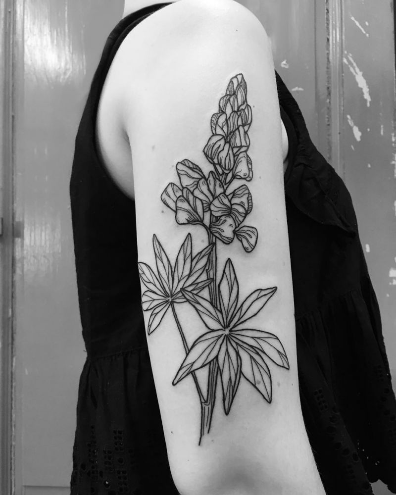 30 Pretty Lupine Tattoos for Your Inspiration