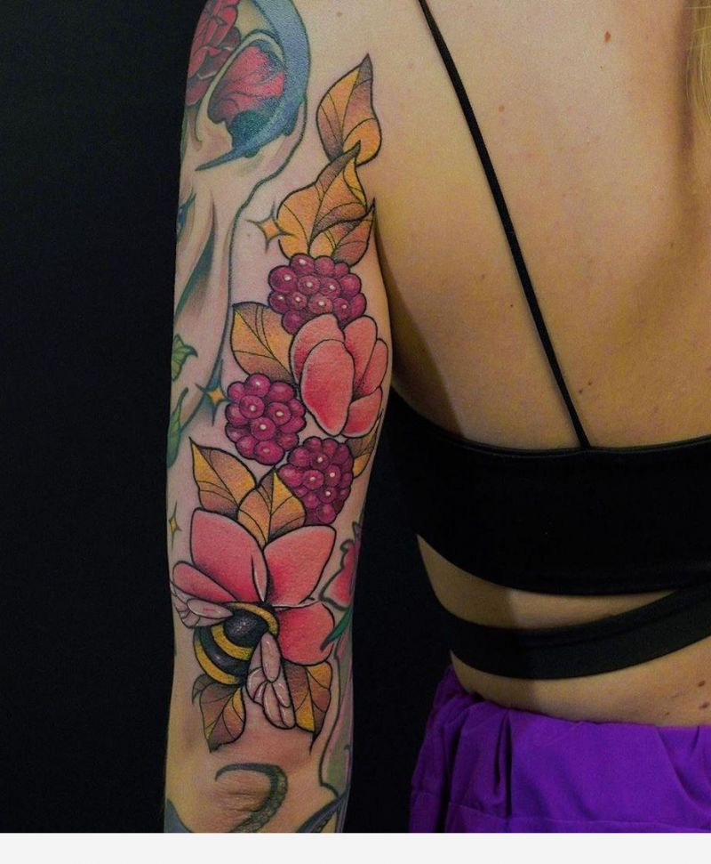 30 Elegant Raspberry Tattoos You Can't Help Trying