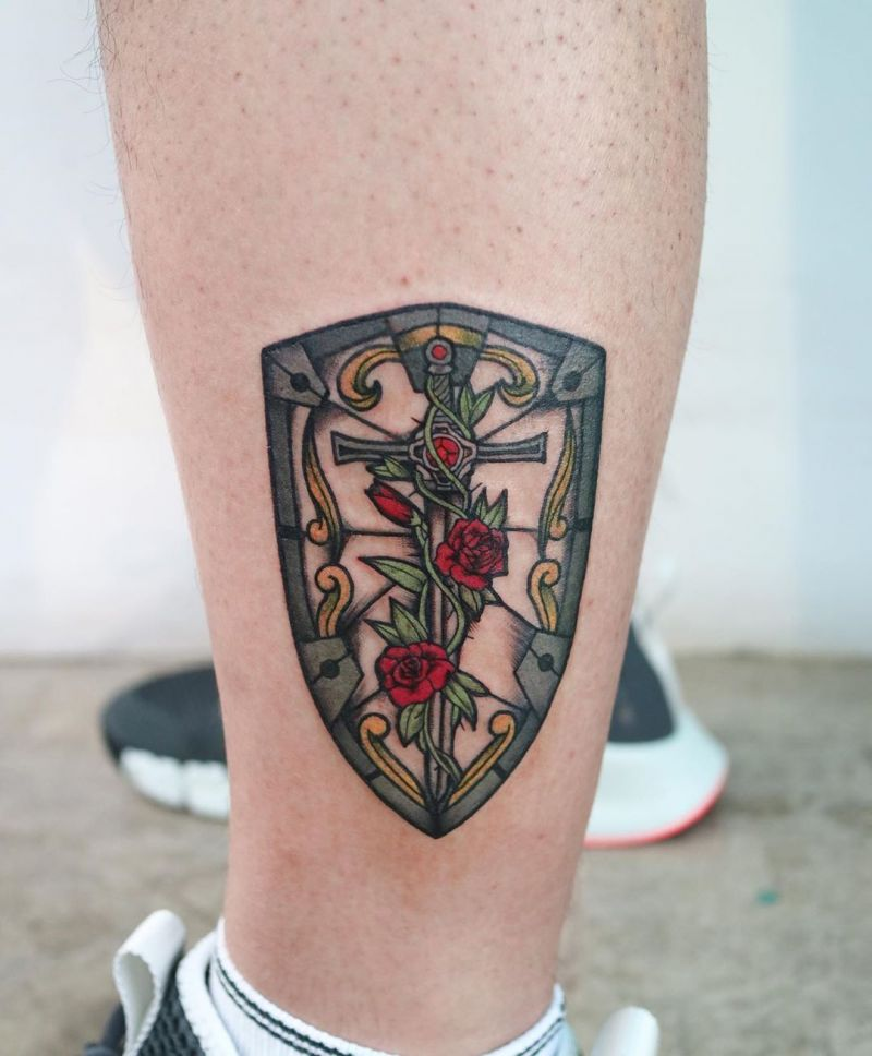 30 Creative Shield Tattoos You Will Love