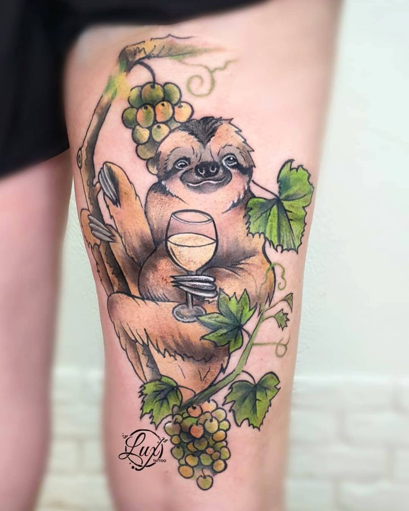 30 Cute Sloth Tattoos for You to Enjoy