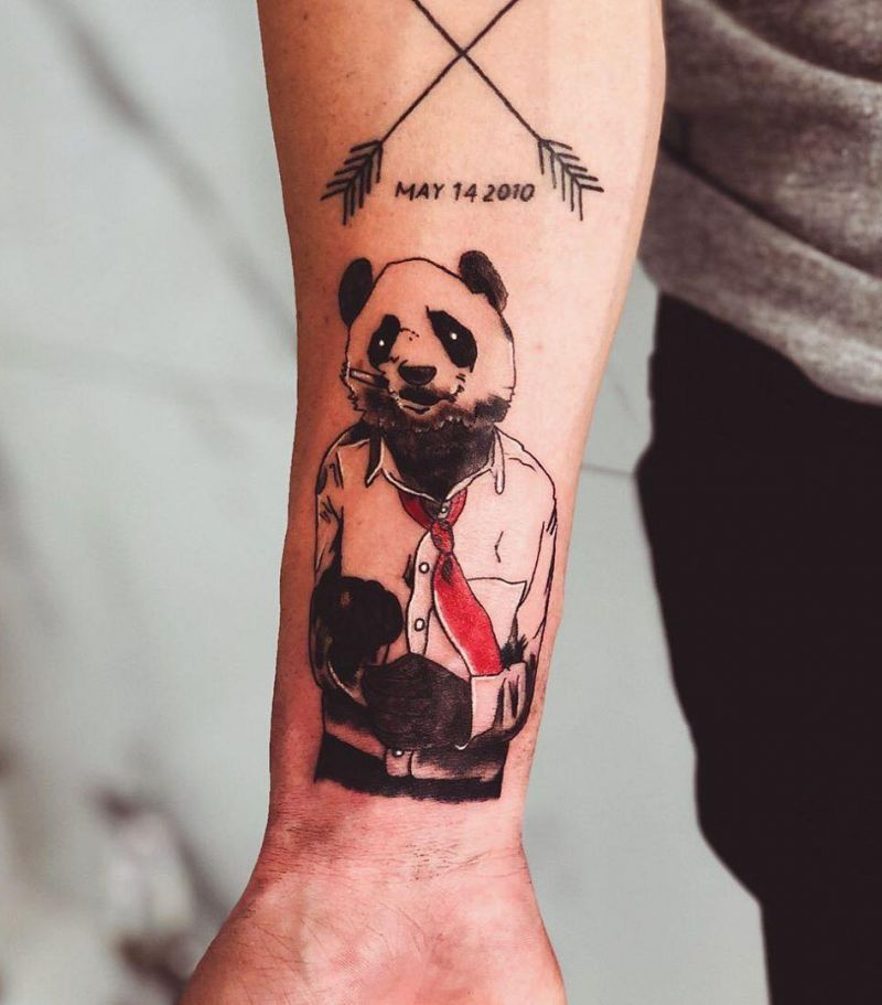 30 Adorable Panda Tattoos Make You Want to Laugh